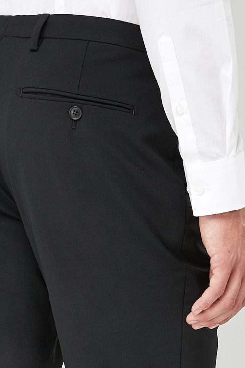Next Wool Blend Tuxedo Suit: Trousers - Tailored Fit