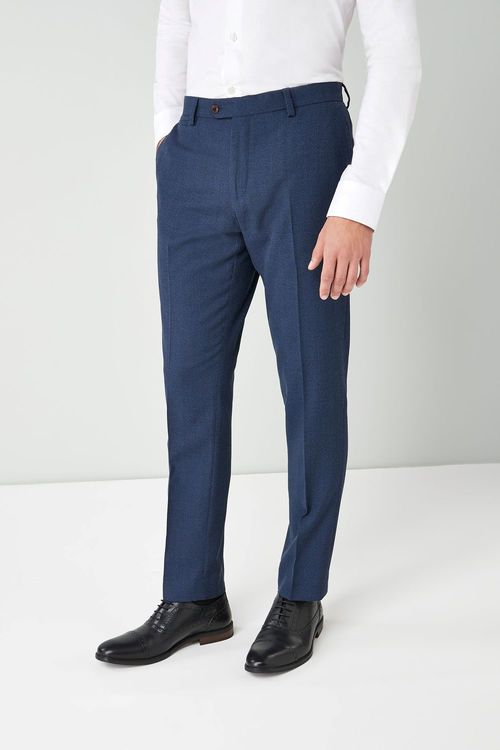 Next Textured Wool Blend Suit: Trousers