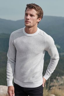 Next Textured Crew Jumper