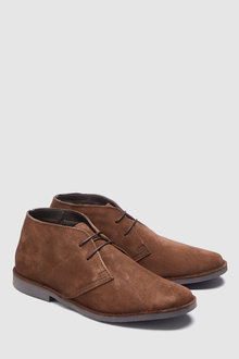 Next Wide Fit Suede Desert Boot