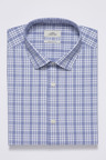 Next Check Short Sleeve Regular Fit Shirt With Pocket Square