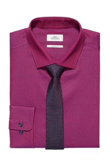 Next Tonic Shirt And Tie Set - Slim Fit Single Cuff