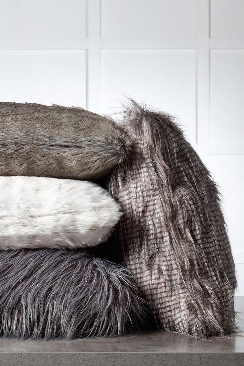 Ascot Faux Fur Cushion