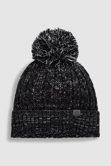 Next Cable Twist Bobble Hat