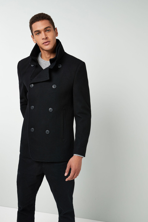 Next Moleskin Double Breasted Coat