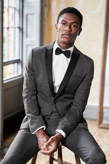 Next Diamond Jacquard Suit: Waistcoat