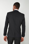 Next Wool Blend Tuxedo Suit: Jacket - Skinny Fit