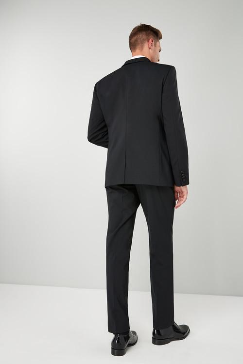 Next Wool Blend Tuxedo Suit: Jacket - Tailored Fit