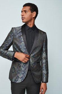 Next Tapestry Pattern Jacquard Skinny Fit Jacket