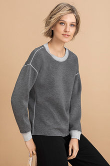 Emerge Contrast Trim Detail Sweater