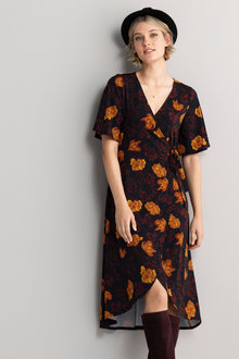 Emerge Knit Wrap Dress