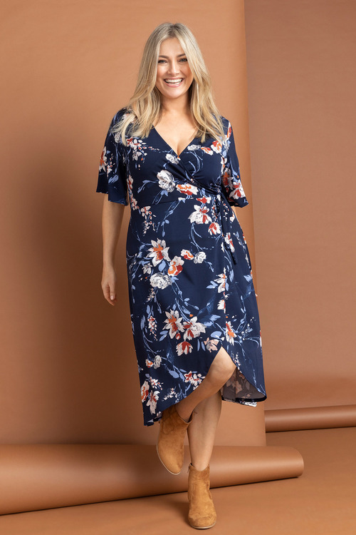 Emerge Knit Wrap Dress