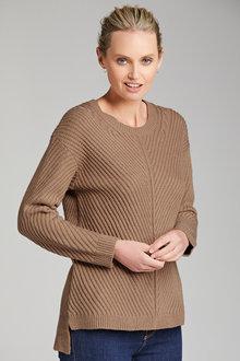 Emerge Rib Detail Sweater - 223475