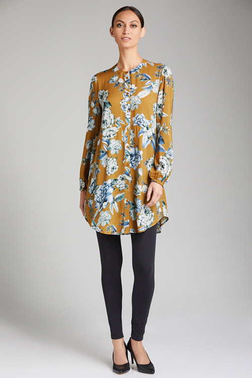 Emerge Gathered Sleeve Tunic Shirt