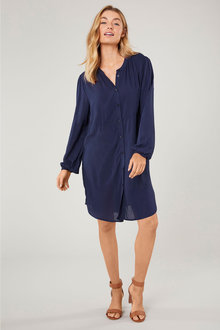 Emerge Gathered Sleeve Tunic Shirt - 223478