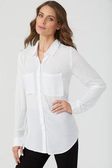 Emerge Key Item Viscose Soft Pocket Shirt - 223481