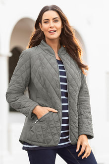 Plus Size - Sara Quilted Jacket - 223482