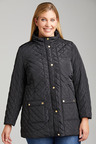 Plus Size - Sara Quilted Long Jacket