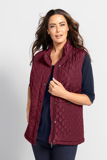 Plus Size - Sara Quilted Vest - 223486