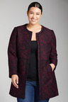Plus Size - Sara Patterned Coat