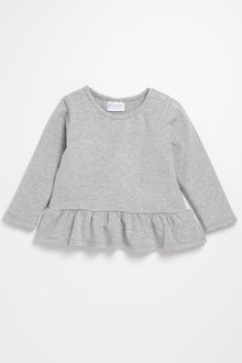 Pumpkin Patch Long Sleeve Top with Frills
