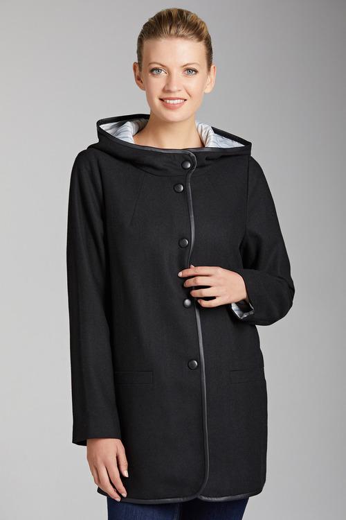 Capture Hooded Trim Coat