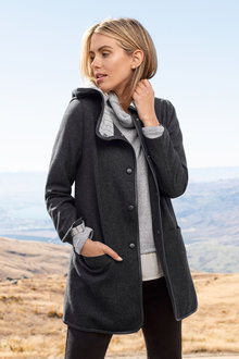 Capture Hooded Trim Coat