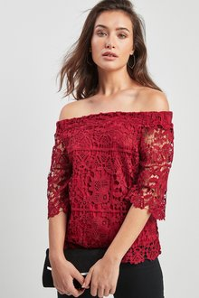 Next Lace Bardot Top