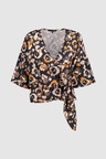 Next Print Buckle Wrap Top