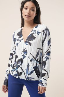 Next Jacquard Wrap Top