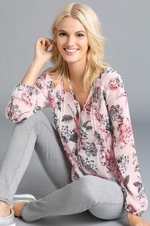 Emerge Yoryu Pintuck Detail Lace Trim Shirt