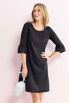 Capture Ponti Ruffle Sleeve Dress - 223523
