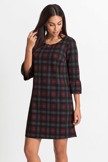 Capture Ponte Check Dress