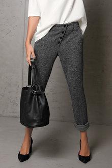 Heine Slim Fit Button Trouser - 223528