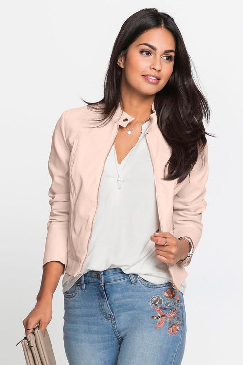 Urban Zip Up Pleather Jacket
