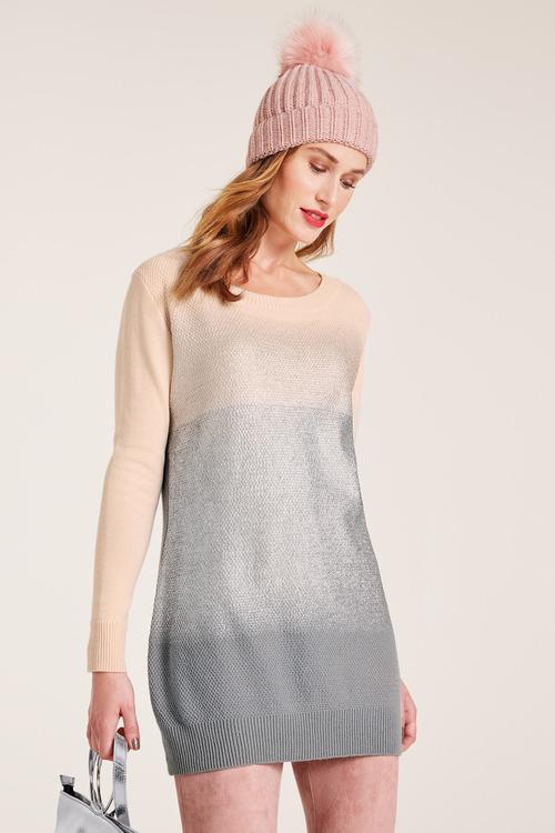 Heine Longline Silver Print Pullover