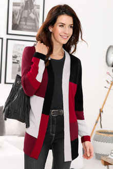 Euro Edit Colour Block Cardigan - 223551