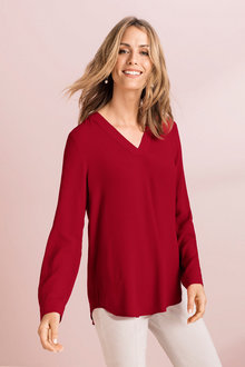 Capture V Neck LS Top - 223554