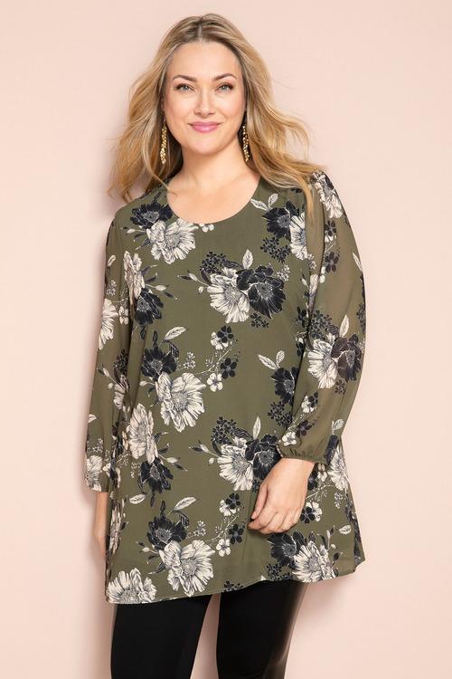 Plus Size - Sara Long Sleeve Tunic