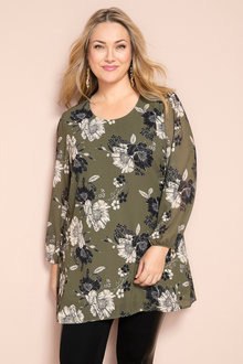 Plus Size - Sara Long Sleeve Tunic