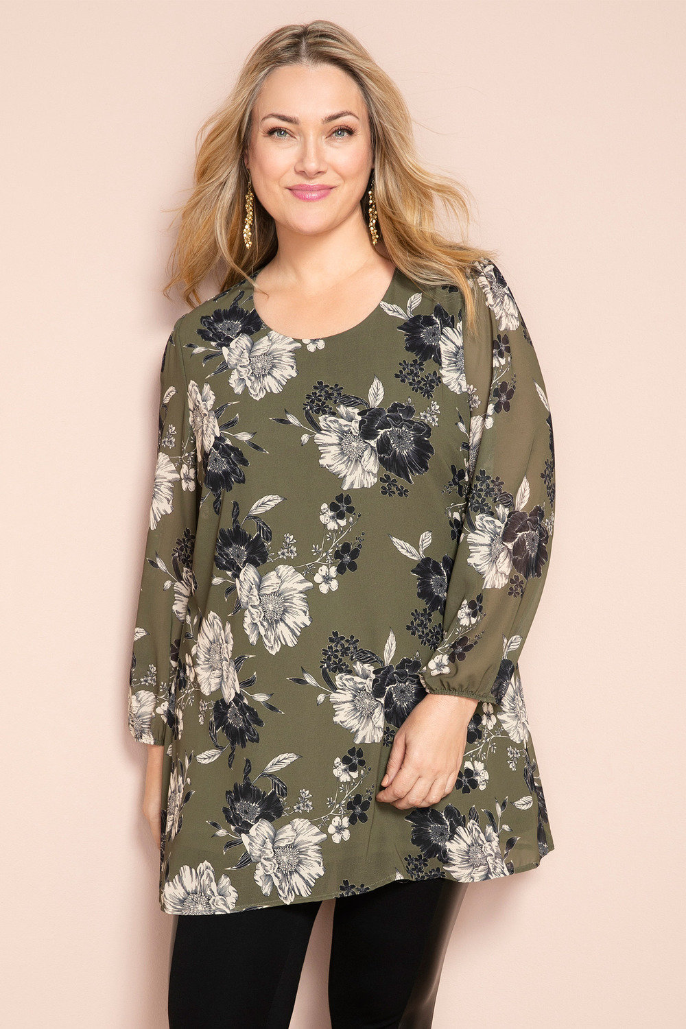 05f4af811e6 Plus Size - Sara Long Sleeve Tunic