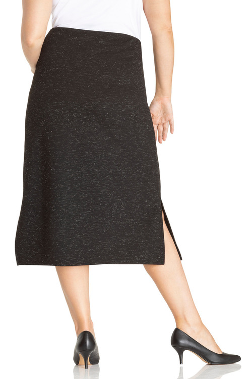 Plus Size - Sara Textured Midi Skirt