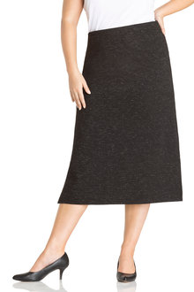 Plus Size - Sara Textured Midi Skirt - 223564