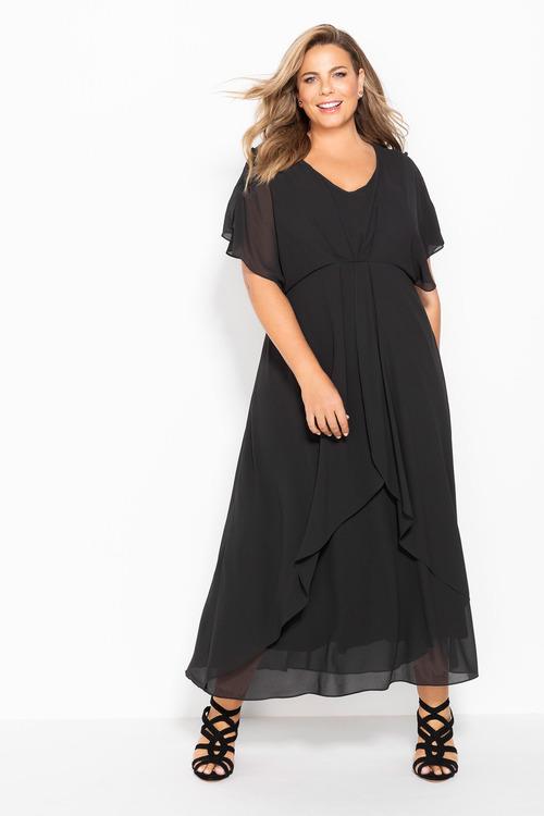 Sara Pleat Front Maxi Dress