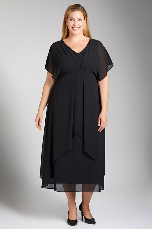Plus Size - Sara Pleat Front Maxi Dress