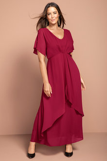 c2af2a4f008c75 Plus Size - Sara Pleat Front Maxi Dress
