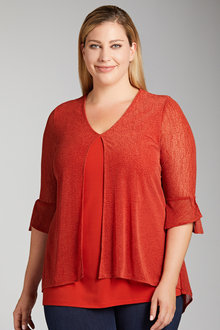 Sara Mesh Layer Top - 223566