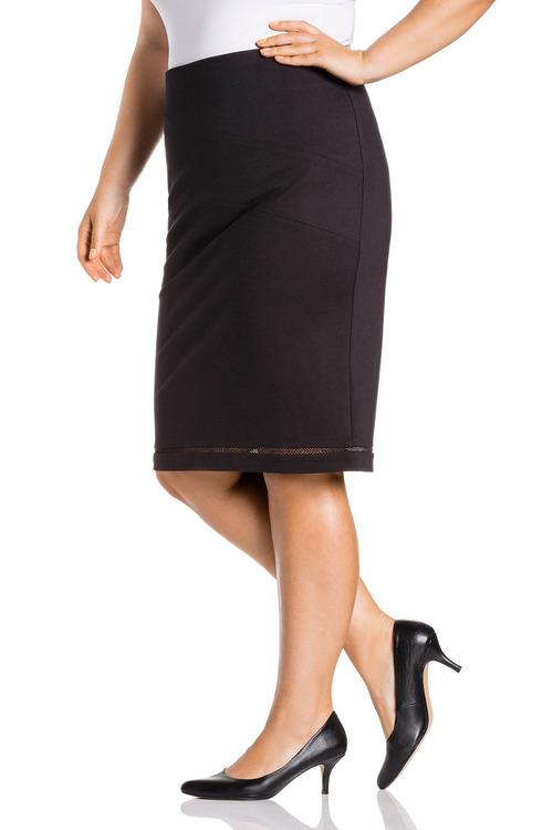 Plus Size - Sara Ponte Panel Skirt