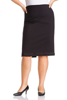 Plus Size - Sara Ponte Panel Skirt