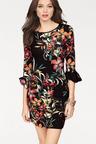 Urban Bell Sleeve Floral Dress